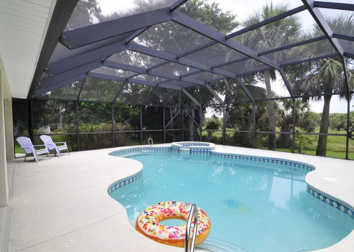 Melbourne Beach bungalow-Four bedroom with heated pool two blocks from beach #16