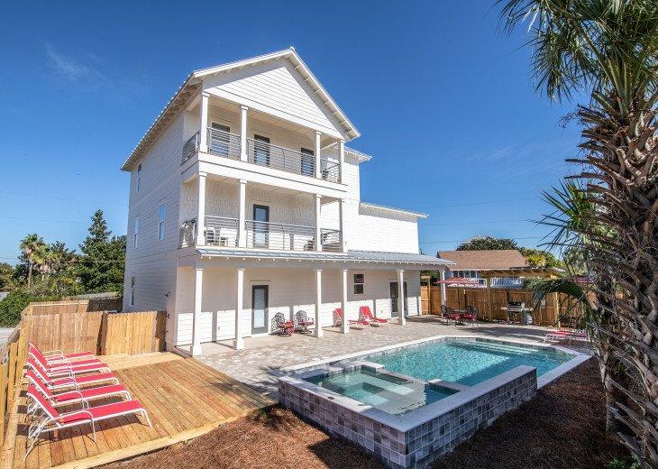 WOW! Brand New Coastal Charmer - Gulf Views! Large Priv Pool/Spa steps to beach #1