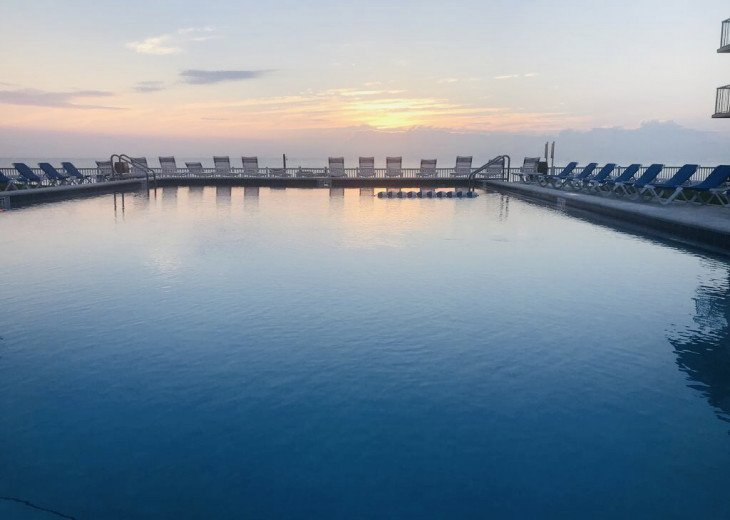 Olympic size pool with million dollar ocean view