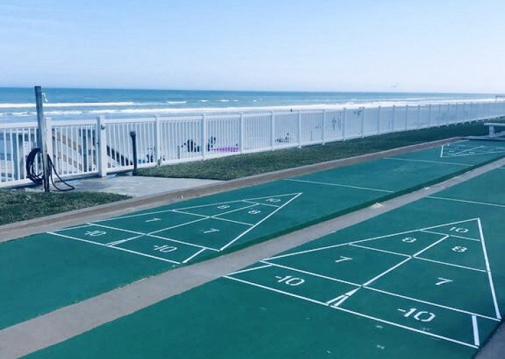 Ocean front Shuffle board for all ages.