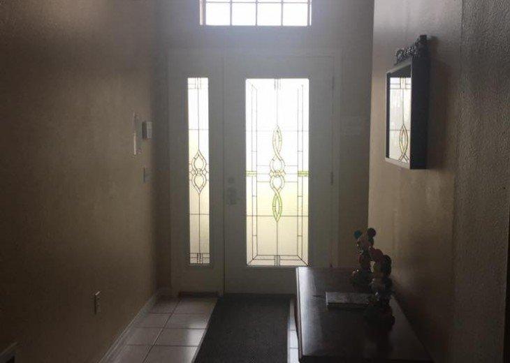Looking at the front door