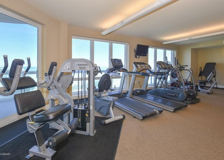 Fitness center beach view East