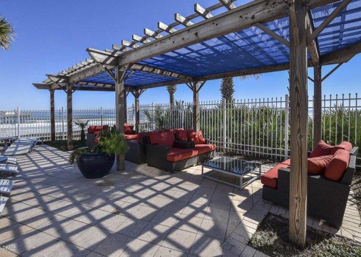 Pool deck shade area