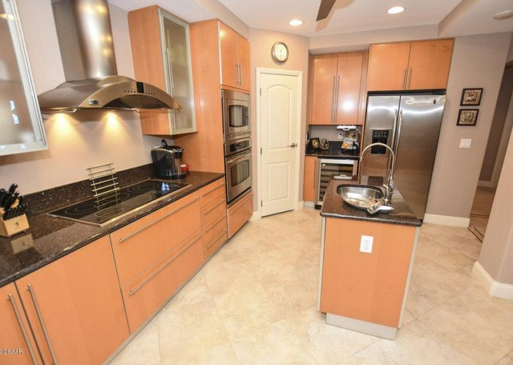 Kitchen includes wine cooler