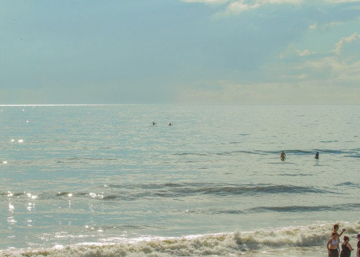 Warm Gulf Stream waters on Atlantic coast