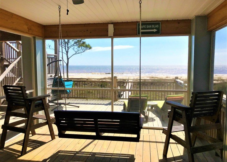 Gulf front w/ panoramic views!!HUGE screened porch & Outdoor kitchen!Beach gear! #23
