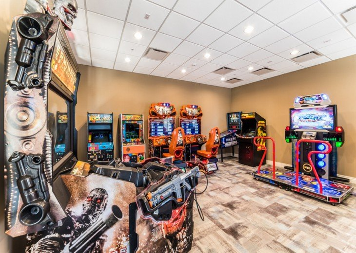 arcade inside clubhouse