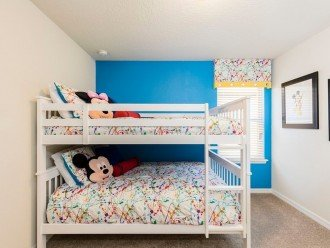 Full size bunk bed room.