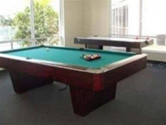 Game room in club house.