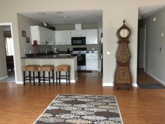 Walk into a large open floor plan...