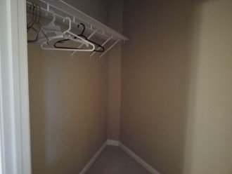 Two large walk-in closets.
