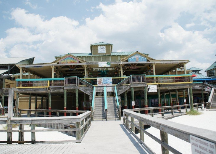 The Boardwalk Plaza 1 mile up the beach