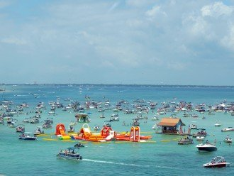 Spend a day at Crab Island, 10 mins from condo