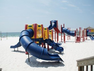 Beach playground 1 mile up the beach