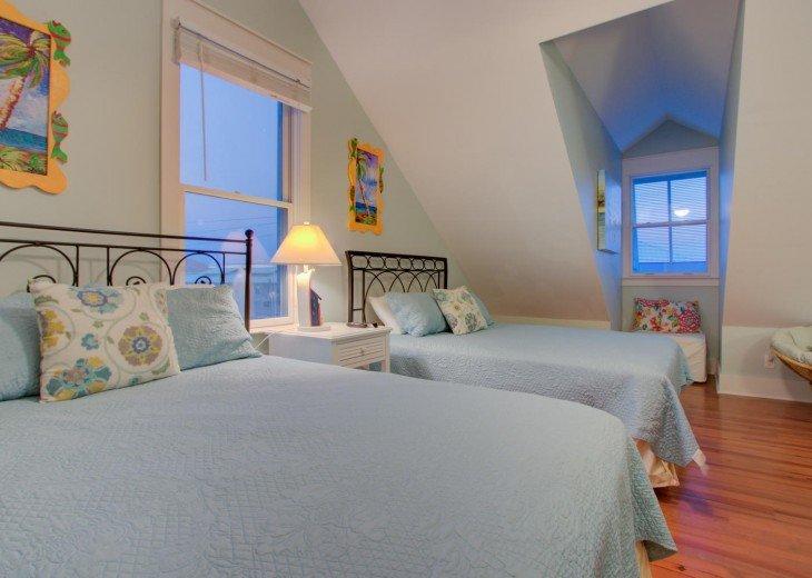 Bedroom #4 on Third Floor with 2 Queen Beds