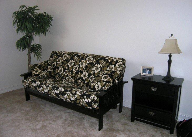Loft Area with Futon in Sofa Configuration