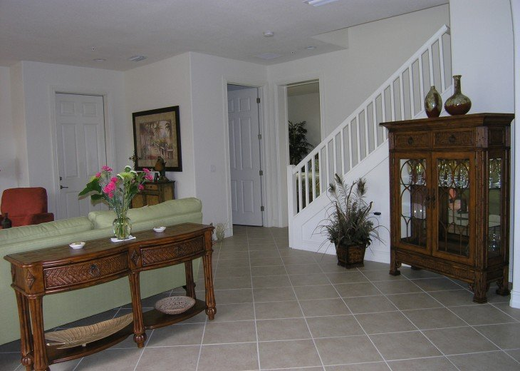 View of Stairway to 2nd Floor from Kitchen Area