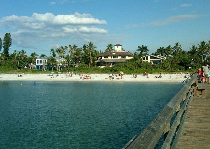 Naples Beach from 12th Ave Pier