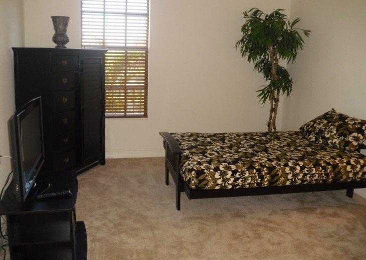 Loft Area with TV, Dresser & Futon Bed
