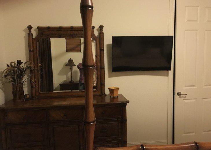 Dresser and HD TV in Master Bedroom