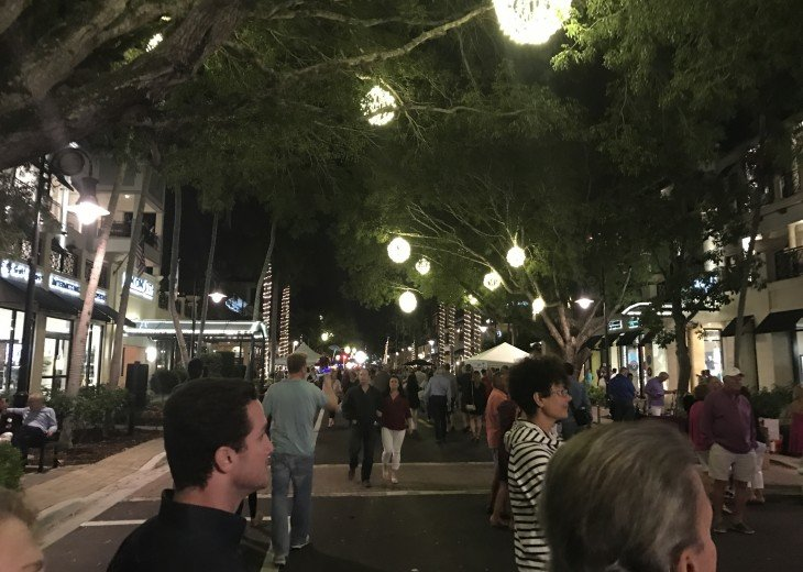 Downtown Naples at Night - 5th Ave.