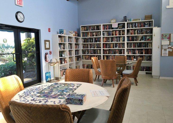 Library at main pool