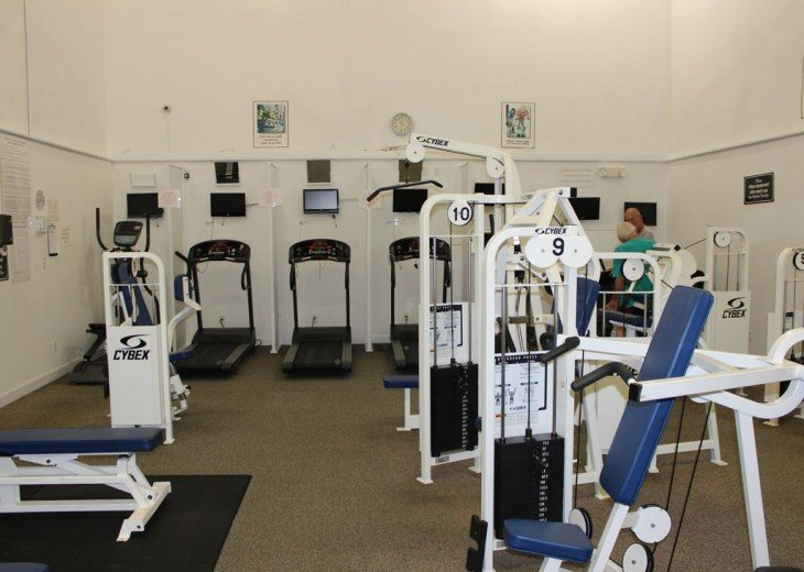 Fitness center at Main Pool