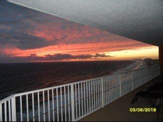 1701 balcony sunset view.