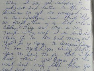 click to enlarge this Ackerson guestbook note