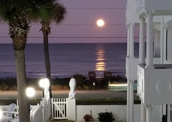 Full Moon View from Our 2nd Floor Balcony