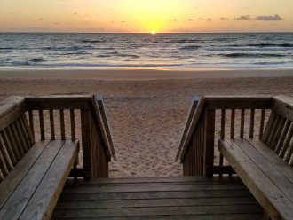 Partial Sunrise from our Ocean Deck