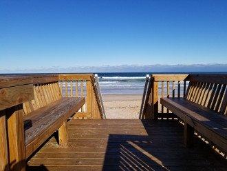 Private Ocean Deck Walkway to Beach
