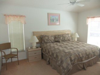 Master bedroom, King size bed and ensuite bathroom