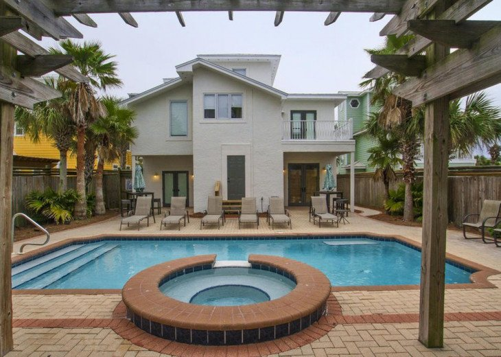 WOW! Room for all. Destin Pearl - 8bd/7ba Large Priv Pool/Spa/Gulf View-Golfcart #41