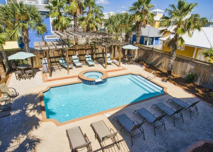 WOW! Room for all. Destin Pearl - 8bd/7ba Large Priv Pool/Spa/Gulf View-Golfcart #43
