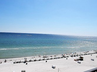 View of the Beach from our balcony and the Gulf of Mexico