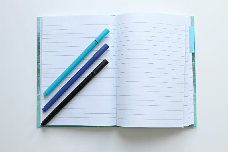 Notebook with pens for vacation rental owners